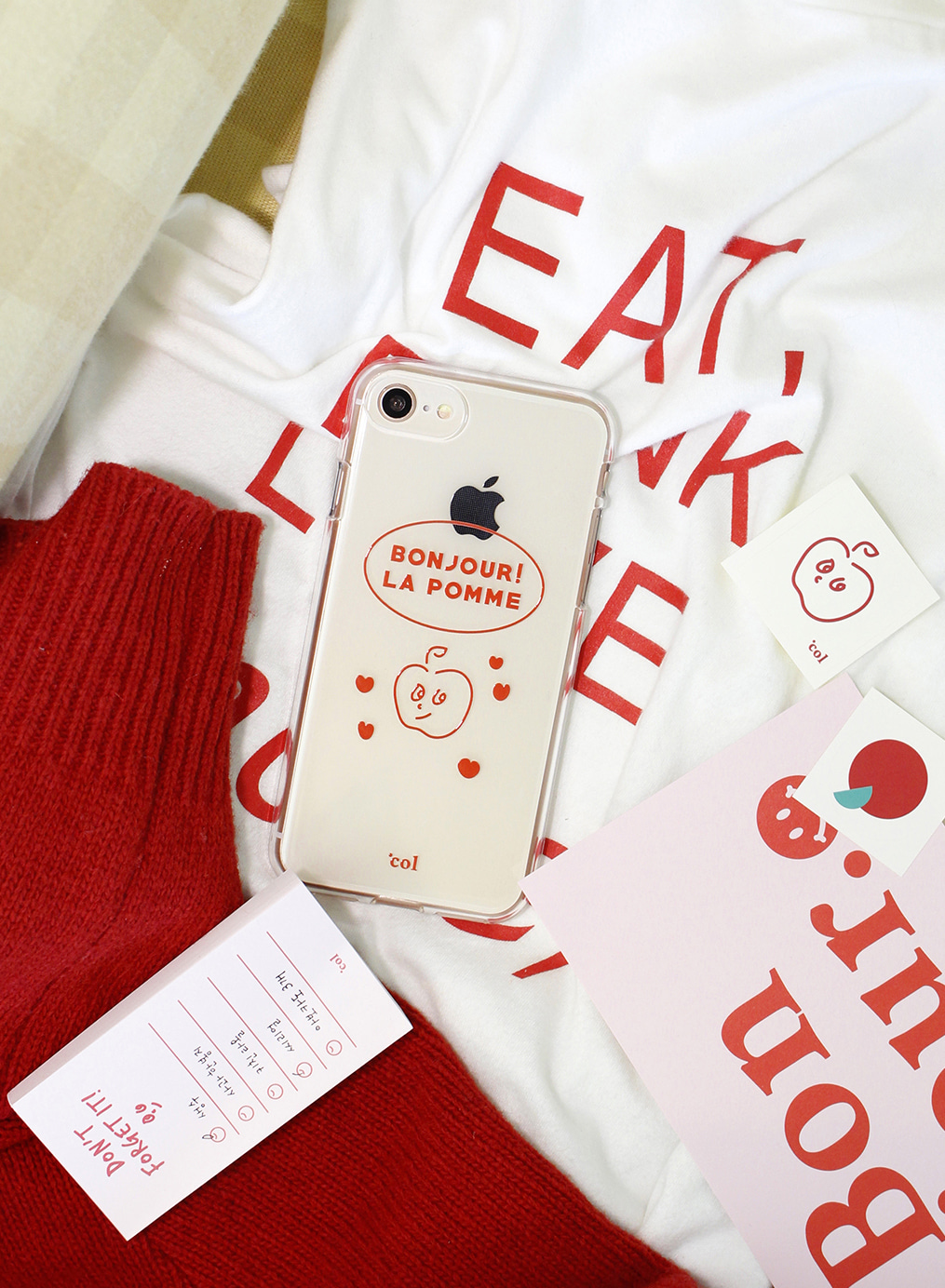 [세트상품] La pomme Case Set (Red)