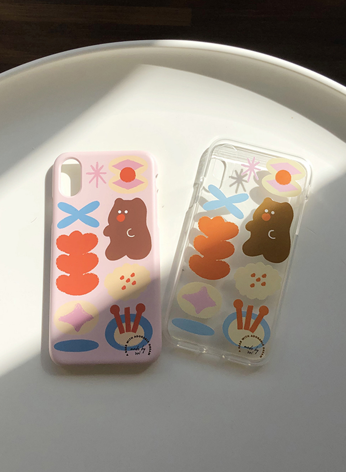 Dreaming Bear Pattern Case (Hard/Jelly)