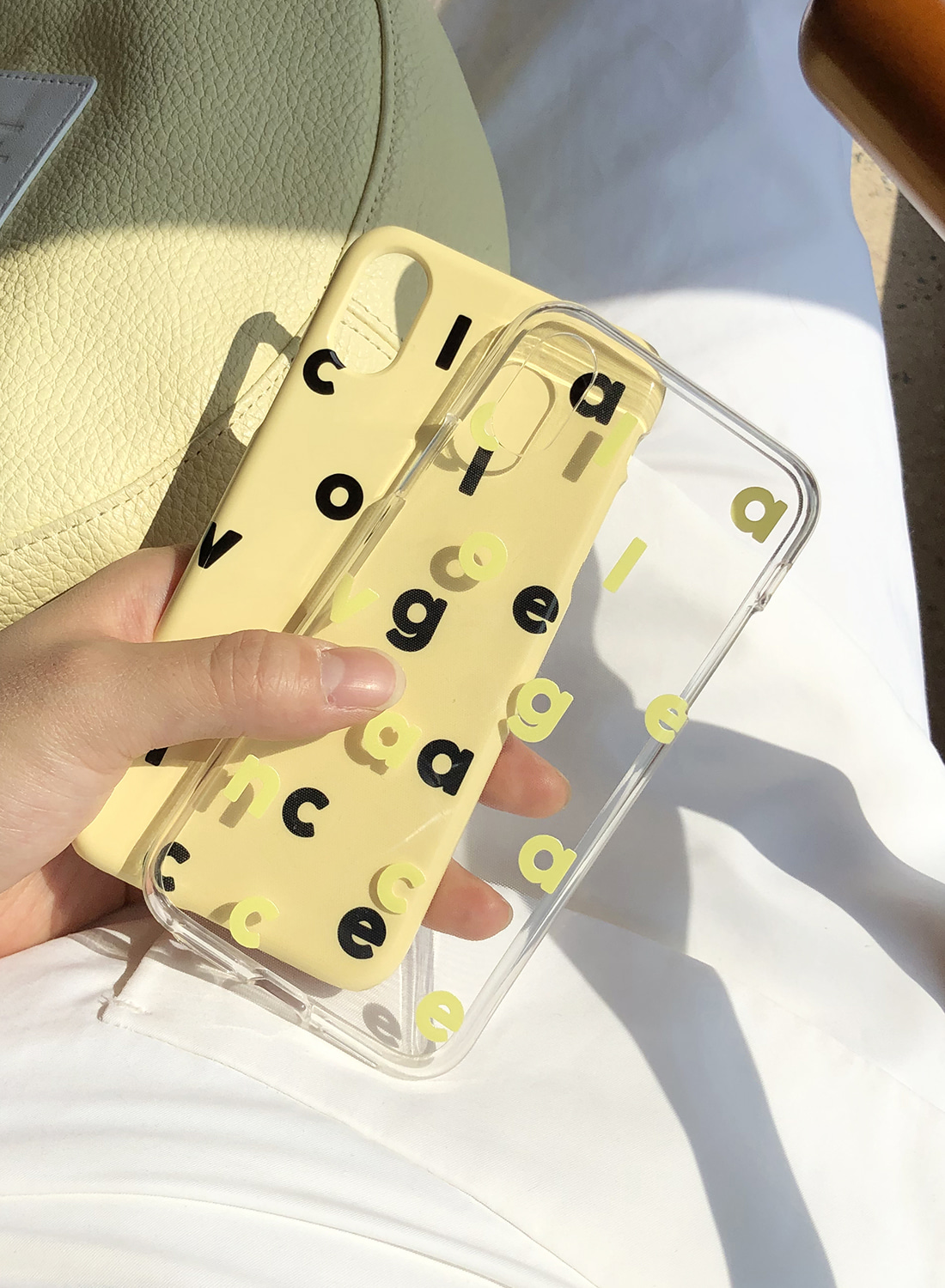 [그립톡 세트 구매시 할인] Logo Alphabet Colorful Case (Jelly Lemon)
