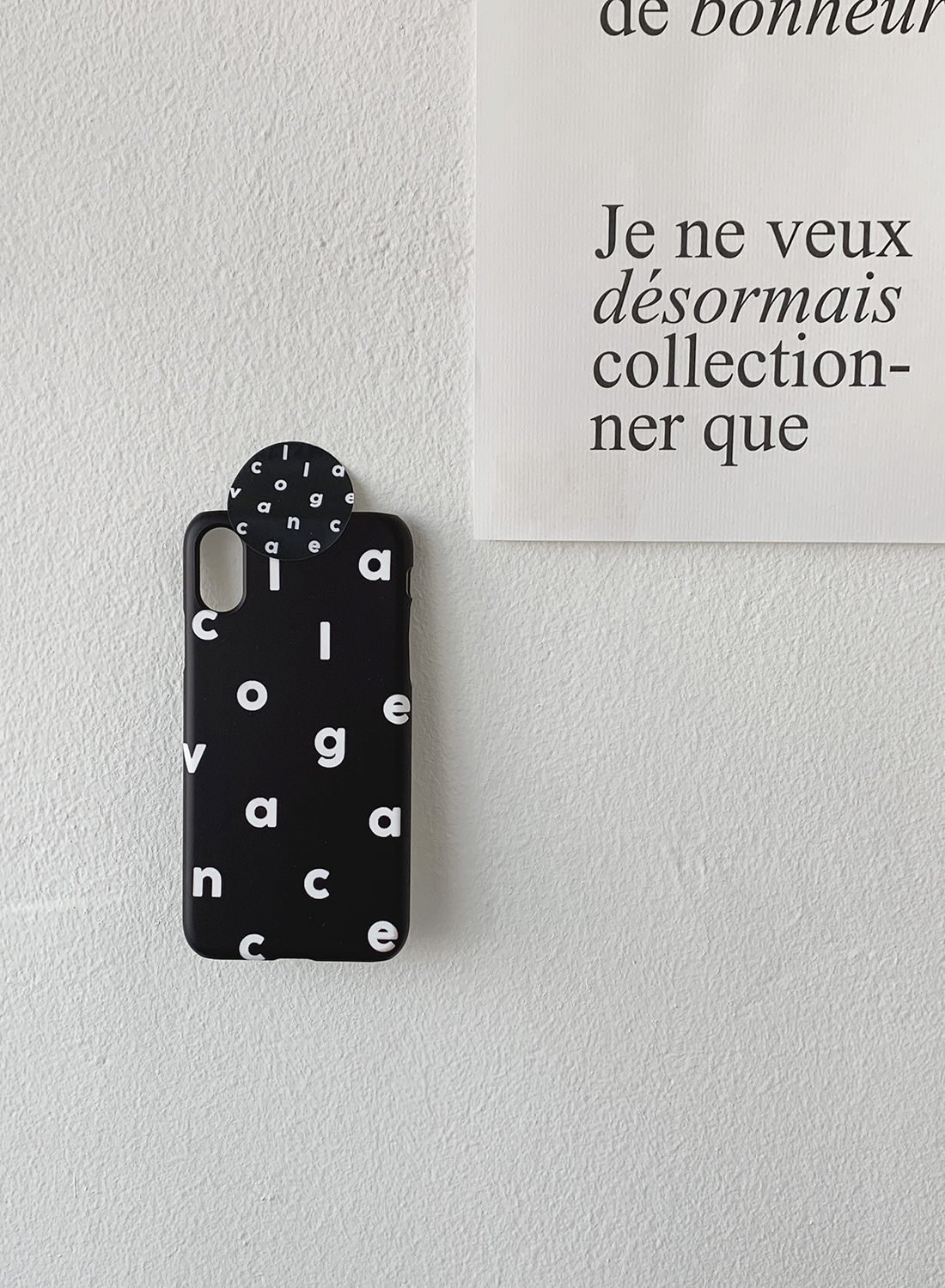 [Sale ~10.17] Logo Alphabet Case (Matt Black)