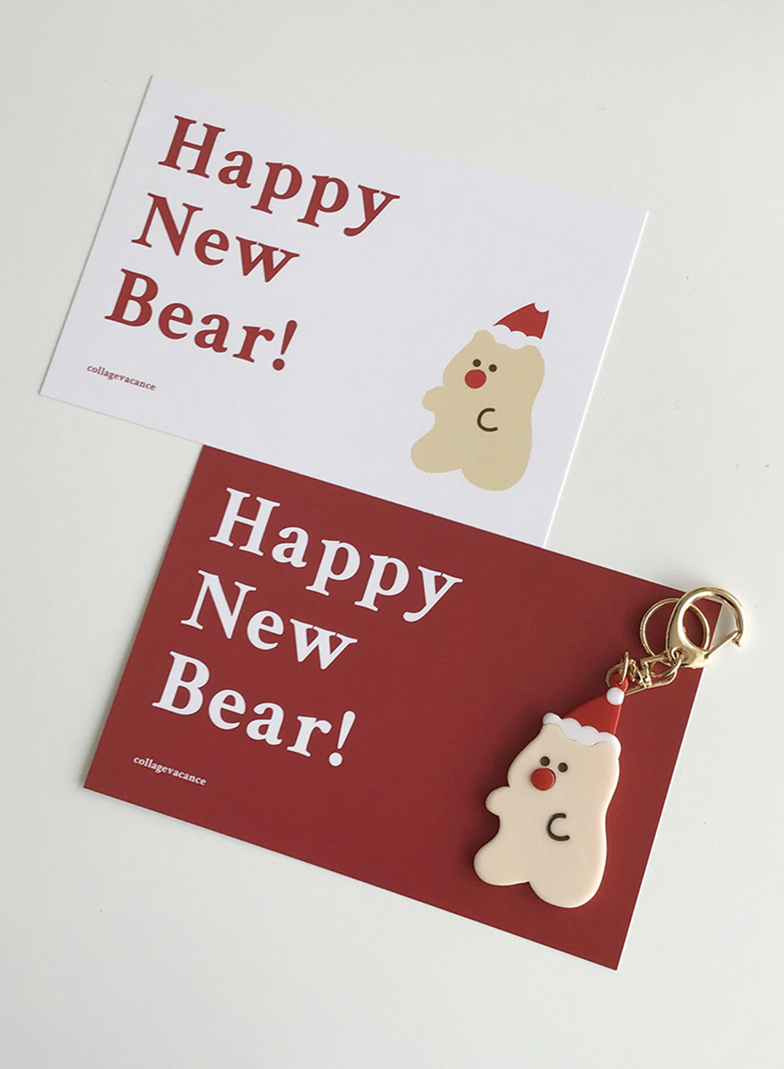 Happy New Bear Postcard Set (2pcs)